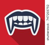 flat icon with shadow vampire... | Shutterstock .eps vector #747203752