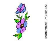 flower vector illustration.... | Shutterstock .eps vector #747204622