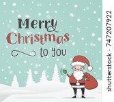 new year  christmas  winter... | Shutterstock .eps vector #747207922