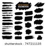 brush strokes text boxes.... | Shutterstock .eps vector #747211135