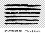 handwrite brush strokes set.... | Shutterstock .eps vector #747211138