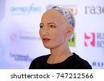 moscow  russia   october 1 ... | Shutterstock . vector #747212566
