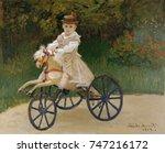 jean monet on his hobby horse ...   Shutterstock . vector #747216172