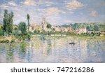 vetheuil in summer  by claude... | Shutterstock . vector #747216286