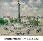 La Place De La Bastille  By...