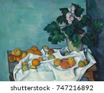 still life with apples and a... | Shutterstock . vector #747216892