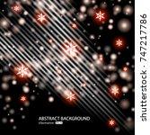 vector abstract silver sparkle... | Shutterstock .eps vector #747217786