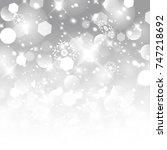 vector glittery lights silver... | Shutterstock .eps vector #747218692