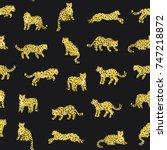 cartoon doodle leopard animal... | Shutterstock .eps vector #747218872
