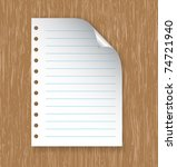paper with rows on table | Shutterstock .eps vector #74721940