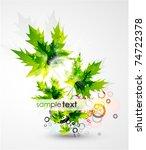 summer floral background | Shutterstock .eps vector #74722378