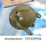 object printed on metal 3d... | Shutterstock . vector #747229936