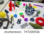 abstract models printed by 3d... | Shutterstock . vector #747230536