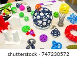 abstract models printed by 3d... | Shutterstock . vector #747230572