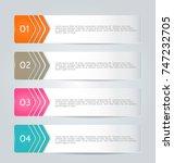 business infographic banner... | Shutterstock .eps vector #747232705