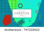 minimal universal banner... | Shutterstock .eps vector #747233422
