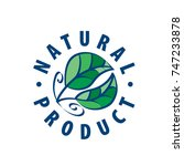 natural product logo   Shutterstock .eps vector #747233878