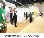 abstract blur people is meeting ... | Shutterstock . vector #747236932
