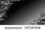 glitch frame. display error... | Shutterstock .eps vector #747247408