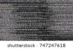 glitch background. computer... | Shutterstock .eps vector #747247618