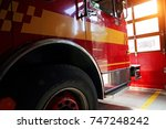 Small photo of Fire truck ready to respond to emergency
