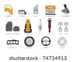 detailed car parts... | Shutterstock .eps vector #74724913