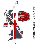 British Map And Double Decker