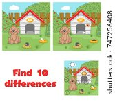 find 10 differences game for... | Shutterstock .eps vector #747256408