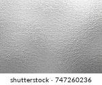 shiny metal silver foil texture ... | Shutterstock . vector #747260236