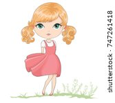 cute girl vector design   Shutterstock .eps vector #747261418