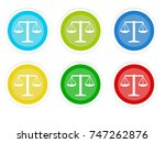 set of rounded colorful buttons ... | Shutterstock . vector #747262876