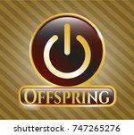 golden emblem or badge with... | Shutterstock .eps vector #747265276