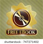 golden emblem with cd or dvd...