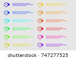 number bullet point colorful 3d ... | Shutterstock .eps vector #747277525
