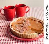traditional homemade pumpkin... | Shutterstock . vector #747279952