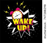 background with comic alarm... | Shutterstock .eps vector #747288298