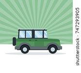 suv vehicle transport | Shutterstock .eps vector #747293905