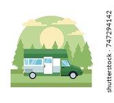 vehicle in highway | Shutterstock .eps vector #747294142