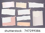 white and colorful ripped... | Shutterstock .eps vector #747299386