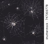 watercolor seamless pattern... | Shutterstock . vector #747303778