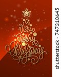 "lettering ""merry christmas"" in... 