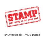 easy edited template of rubber... | Shutterstock .eps vector #747310885