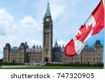 Canadian Flag Waving With...