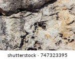 ancient greek rough rock texture   Shutterstock . vector #747323395