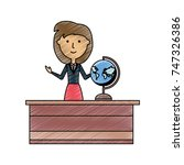 teacher woman vector... | Shutterstock .eps vector #747326386