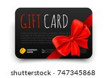 black gift card template with... | Shutterstock .eps vector #747345868