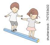 vector illustration of little... | Shutterstock .eps vector #747353632