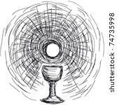 Постер, плакат: Host and chalice