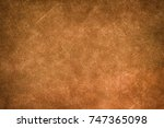 brown canvas texture background. | Shutterstock . vector #747365098