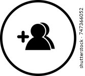 add contact symbol   Shutterstock .eps vector #747366052